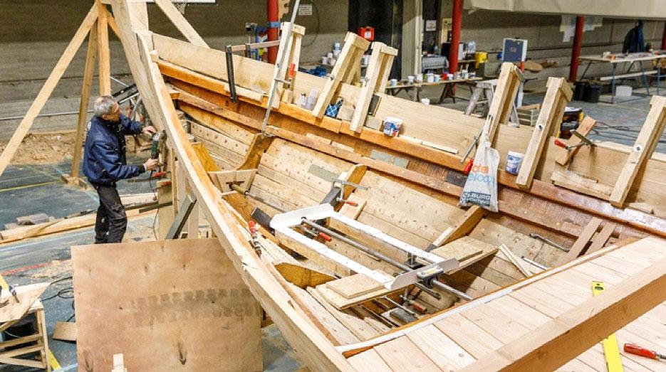 Vikingschip krijgt al vorm
